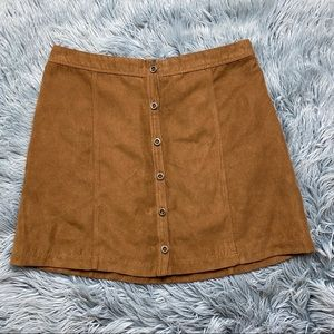 Hollister Faux Suede High Rise Skirt